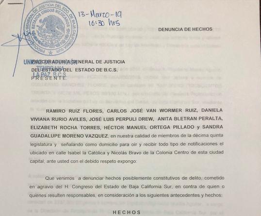 Investigarán probable comisión del delito de peculado por parte del Diputado Rigoberto Murillo