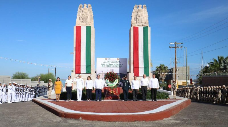 Se conmemora el 172 aniversario de la gesta heroica de los niños héroes de Chapultepec