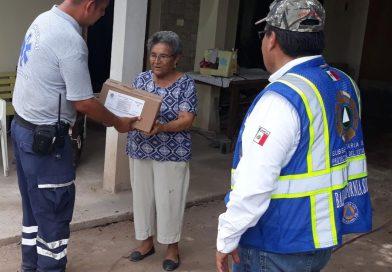 Gobierno del estado entrega apoyos de FONDEN a familias comundeñas