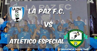 Cascarita por la inclusión entre La Paz F.C. y Atlético Especial en convivencia deportiva