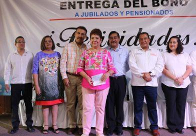 BCS ejemplo nacional en pago de bono a jubilados y pensionados del sector educativo