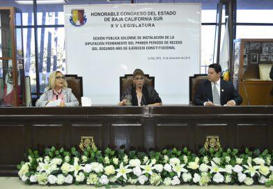Repite Daniela Viviana Rubio Avilés Presidenta del Congreso de BCS