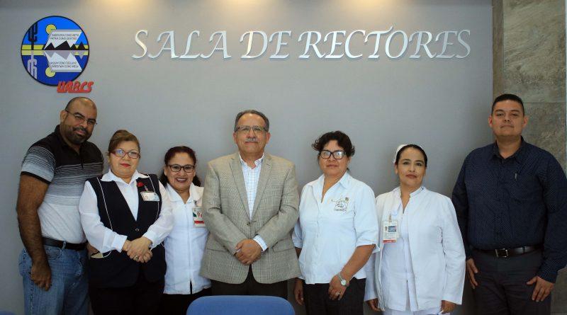 Se reúne rector de la UABCS con integrantes de la Asociación de Enfermería en BCS