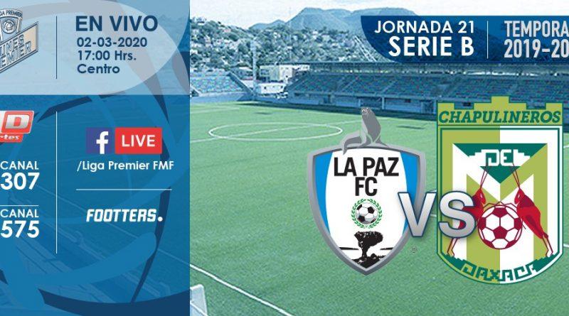 Este 2 de marzo, será Lunes Premier entre La Paz F.C. vs Chapulineros desde el Guaycura