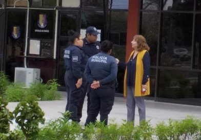 Pide la Presidente de la mesa directiva del Congreso de BCS apoyo de los Policías Municipales para resguardar edificio