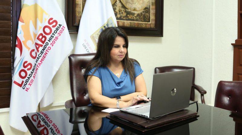 """Participa alcaldesa de Los Cabos en el """"Foro Virtual Cocreando Ciudades para Todas las Personas"""" convocado por la SEDATU"""