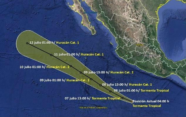 Este fin de semana se esperan lluvias aisladas en Los Cabos, a causa de la Tormenta Tropical Cristina