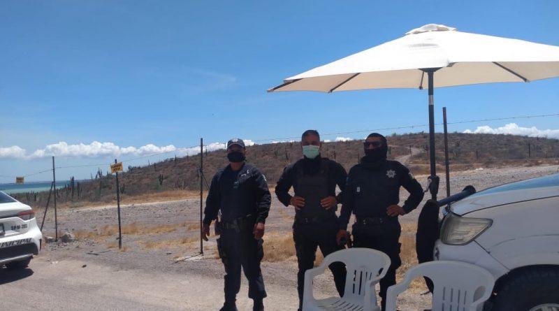 Vigilará policía municipal cierre de playas en el municipio de La Paz