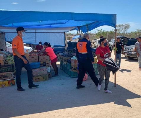 Verifica Protección Civil Los Cabos que los establecimientos cumplan con los protocolos de higiene y sana distancia