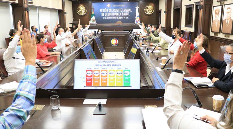 Permanece BCS en nivel 5 de alerta sanitaria por voto unánime del Comité de Seguridad en Salud
