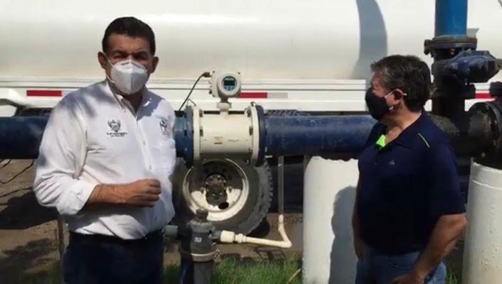 Supervisa Rubén Muñoz los trabajos del OOMSAPAS La Paz para mejorar la presión del agua en redes