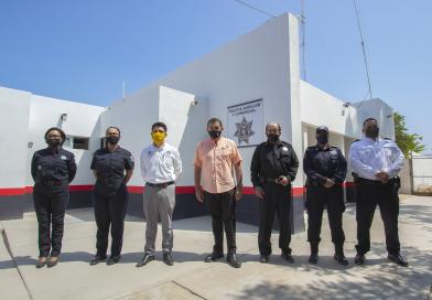 Cumple Rubén Muñoz con instalaciones dignas para policías