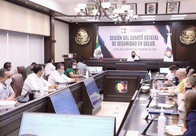 Refuerza Comité Estatal de Seguridad en Salud medidas de prevención en temporada decembrina