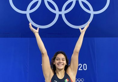 Logra sexto lugar en trampolín de 3 metros, Aranza Vázquez en sus primeras olimpiadas